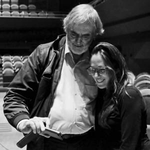 Clara Iannotta & Helmut Lachenmann taking a selfie